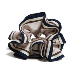veryshine.com scrunchies/hair holder Beige Stripe edge Satin Hair Elastic Ties Scrunchies