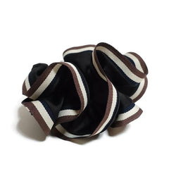 veryshine.com scrunchies/hair holder Black Stripe edge Satin Hair Elastic Ties Scrunchies