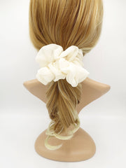 veryshine.com scrunchies/hair holder Cream white large chiffon voluminous scrunchies women hair elastic accessory