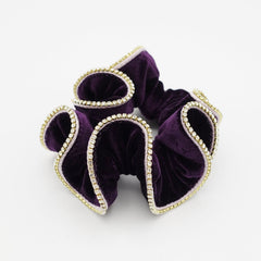 veryshine.com scrunchies/hair holder crystal rhinestone decorated velvet scrunchies women hair elastic tie scrunchy