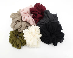 veryshine.com scrunchies/hair holder large chiffon voluminous scrunchies women hair elastic accessory