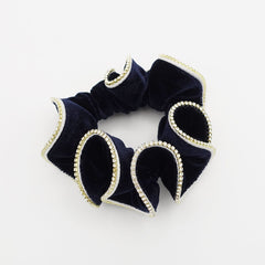 veryshine.com scrunchies/hair holder Navy crystal rhinestone decorated velvet scrunchies women hair elastic tie scrunchy
