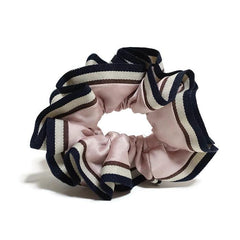 veryshine.com scrunchies/hair holder Pink Stripe edge Satin Hair Elastic Ties Scrunchies