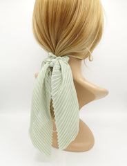 veryshine.com scrunchies/hair holder pleated scrunchies chiffon bow long tail scarf hair tie scrunchie