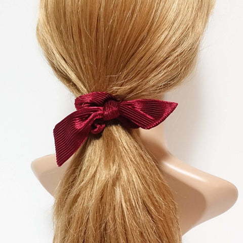 soft glossy corduroy bow knot scrunchies cute hair tie women scrunchie hair accessory