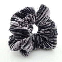 veryshine.com scrunchies/hair holder Solid Pleated Velvet Scrunchies Women Hair Elastic Accessories
