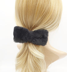 VeryShine fabric fur hair bow soft Winter hair accessory for women