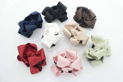 VeryShine Handmade Grosgrain hair Bow Mini Hair jaw Claw Clip Mini Small Hair Claw women hair accessory