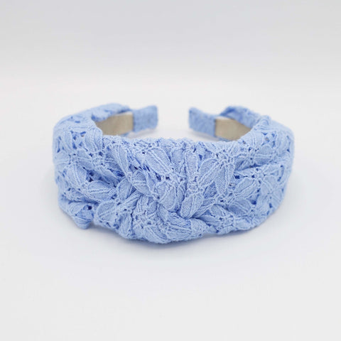 eyelet top knot headband Sprint Summer hairband for women