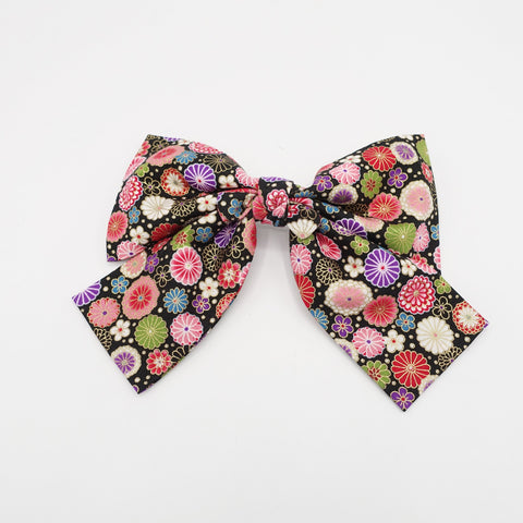 Japanese floral print big  bow  VS-202104