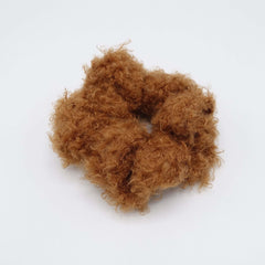 VeryShine scrunchies/hair holder Caramel teddy fur scrunchies soft fabric Winter hair elastic scrunchie for women