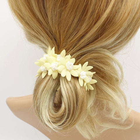 pastel flower petal scrunchies hair elastic scurnchie for women