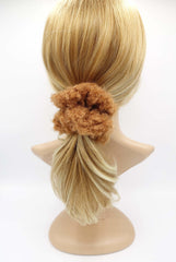 VeryShine scrunchies/hair holder teddy fur scrunchies soft fabric Winter hair elastic scrunchie for women