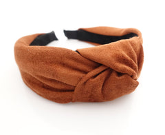 VeryShine suede knotted  headband basic fashion hairband woman hair accessory
