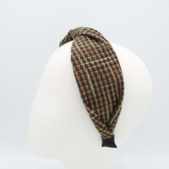 VeryShine tweed waffle pattern headband twist hairband Fall Winter stylish hair accessory for women