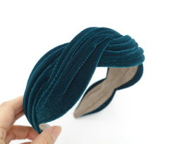 VeryShine velvet wave headband cross hairband for women
