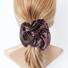 VeryShine waved thread decorated satin scrunchies women hair elastic scrunchy