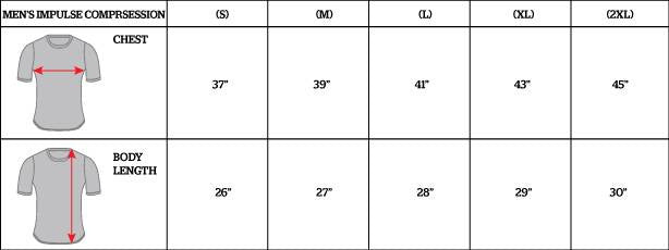 Clinch Gear Rash Guard Size Chart