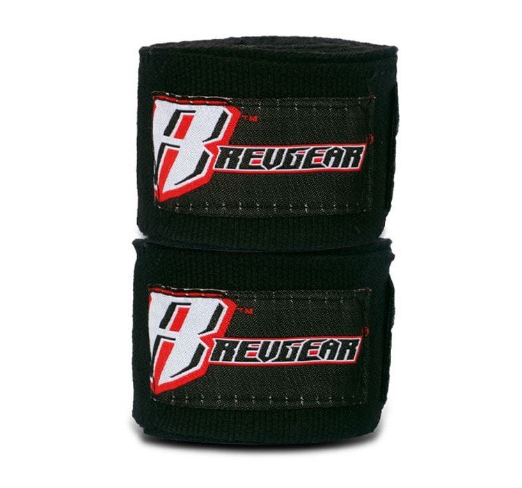"Revgear 2"" X 200"" Elastic Handwraps Color Black"