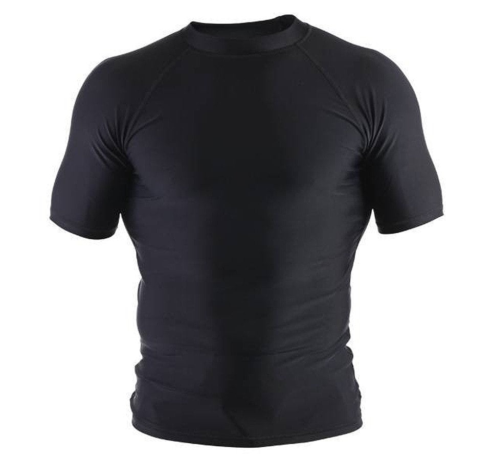 Clinch Gear Basic Short Sleeve Rash Guard - Black -Front
