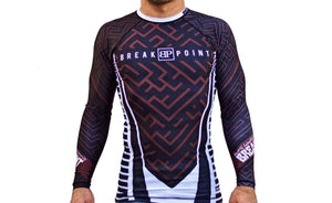 "Break Point ""Chaos"" Rash Guard - Brown"