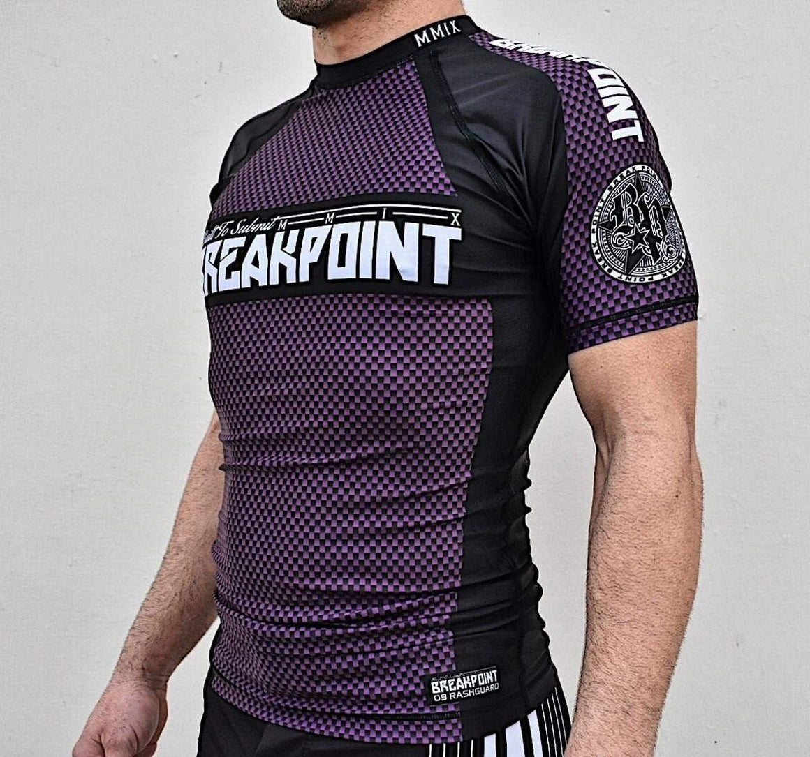 Break Point ''09'' Rash Guard - Purple