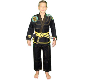 Break Point BTS Light Weight Deluxe Kids Gi Color Black Front View