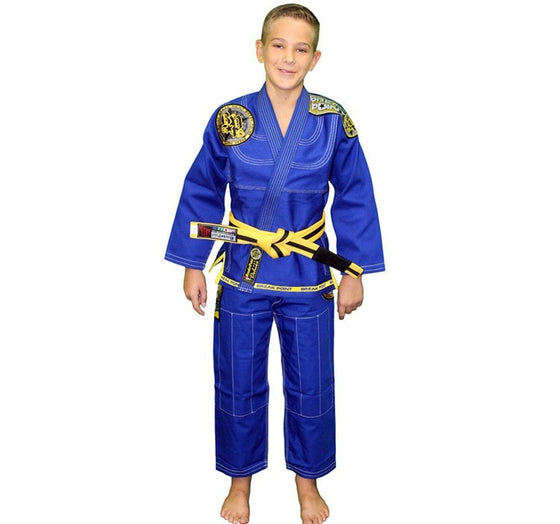 Break Point BTS Light Weight Deluxe Kids Gi Color Blue Front View