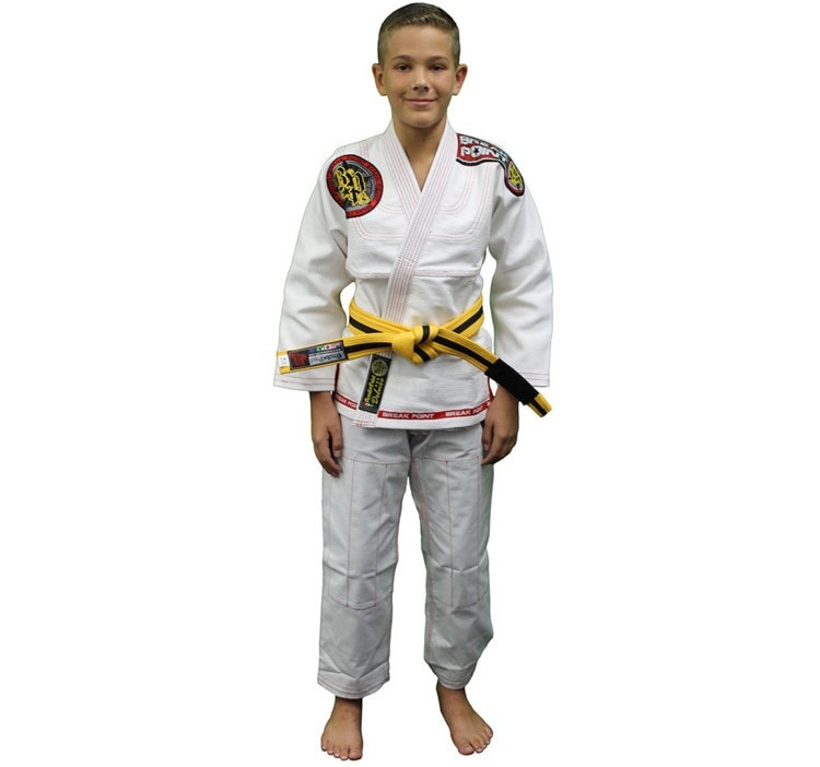 Break Point BTS Light Weight Deluxe Kids Gi Color White Front View