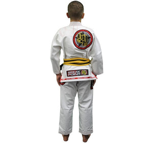 Break Point BTS Light Weight Deluxe Kids Gi Color White Rear View