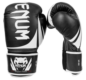 Venum Challenger 2.0 Boxing Gloves Color Black Front and Side View