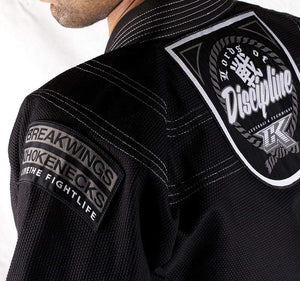 Contract Killer Discipline Gi Black Back Closeup