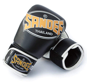Sandee Cool-Tec Leather Boxing Gloves - Black/Gold