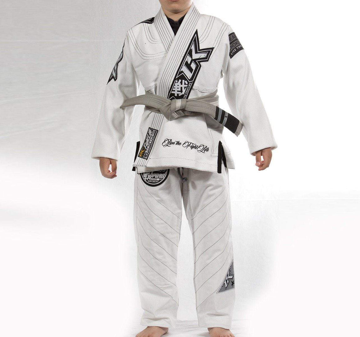 Contract Killer Discipline Kids Gi - White - Front