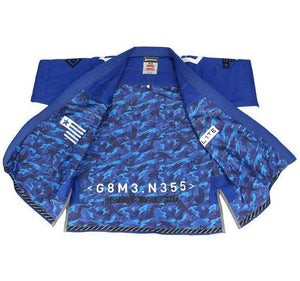 Gameness Elite 2015 Gi Color Blue Inside Jacket View