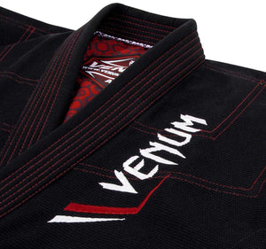 Venum Elite Light BJJ Gi - Black - Jacket Closeup