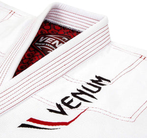 Venum Elite Light BJJ Gi - White - Jacket Closeup