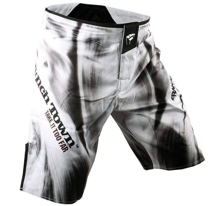 "PunchTown Frakas ""Fury in the Flesh"" Fight Shorts Front View"
