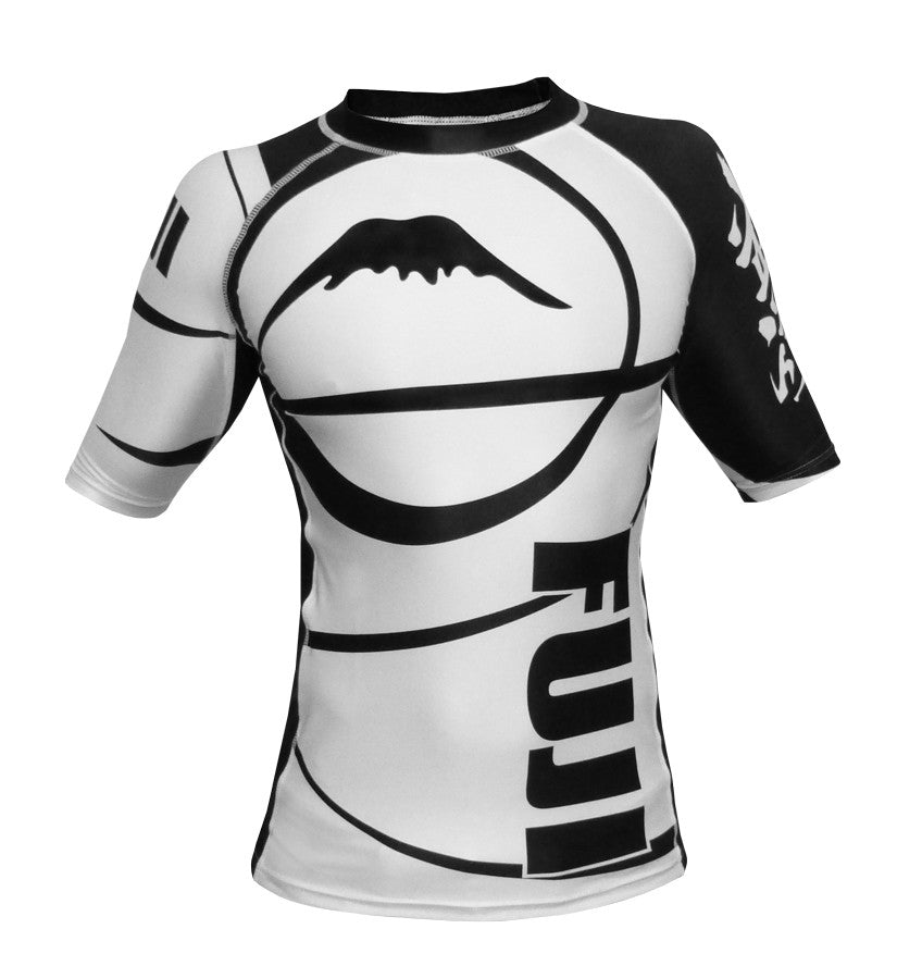 FUJI Sports: Freestyle IBJJF Ranked Rashguard - White | Short Sleeve