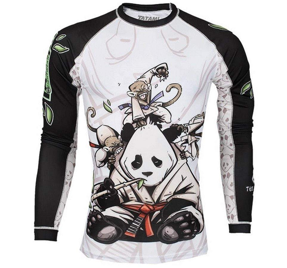 Tatami Gentle Panda Long Sleeve Rash Guard Front View