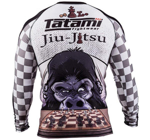 Tatami Chess Gorilla Long Sleeve Rash Guard Rear View