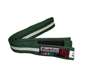 Break Point Kids Jiu Jitsu Belt Color Green/White