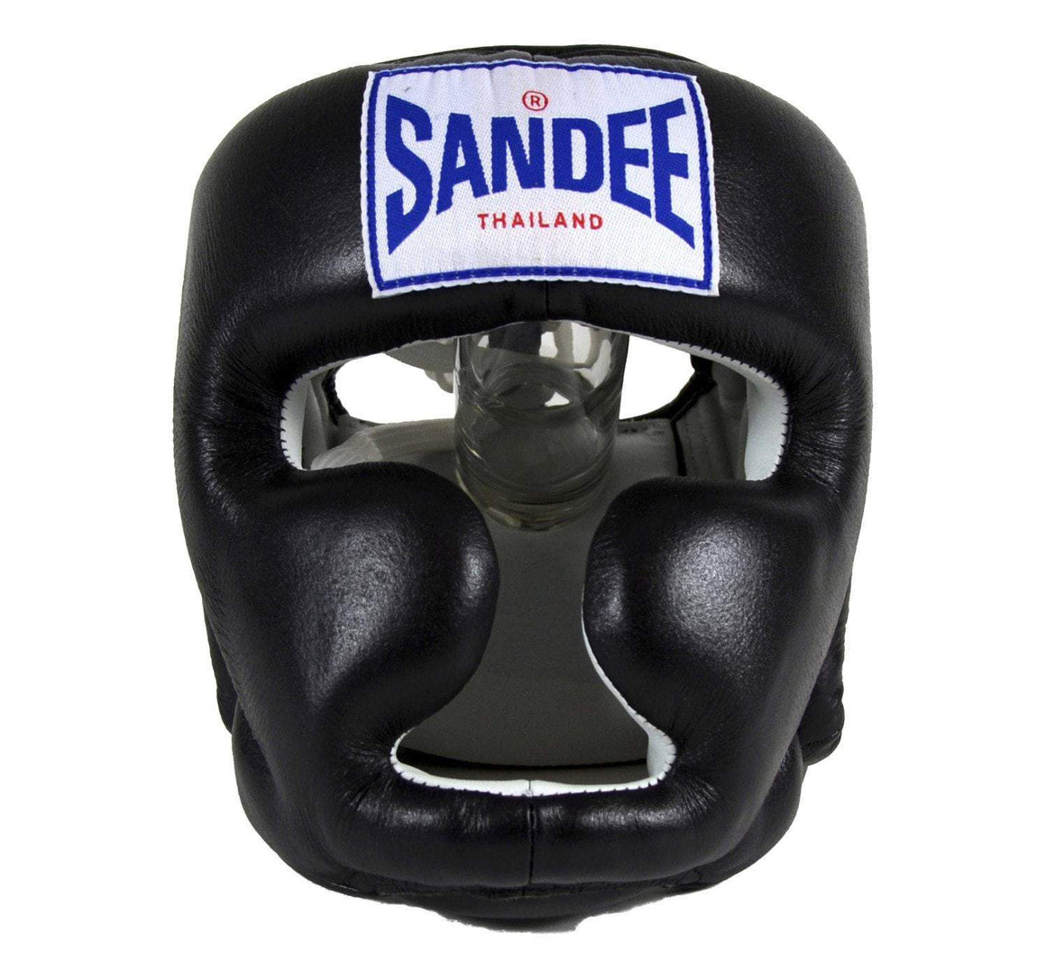 Sandee Closed Face Synthetic Leather Headgear - Black