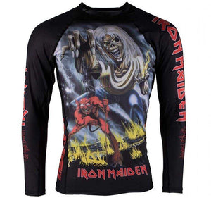 Tatami x Iron Maiden Number of the Beast Rash Guard - Front