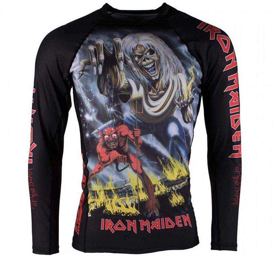 Tatami x Iron Maiden Number of the Beast Ladies Rash Guard  - Front