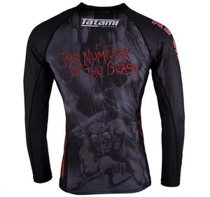 Tatami x Iron Maiden Number of the Beast Ladies Rash Guard  - Back