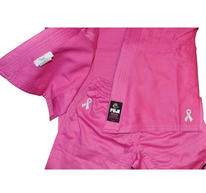Fuji All Around Kids BJJ Gi - Pink - Closeup