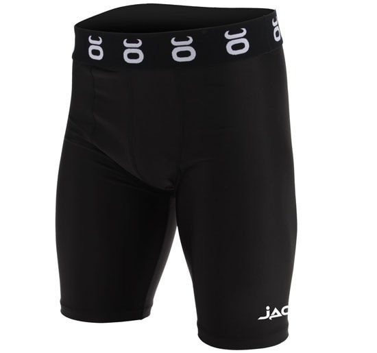 Jaco Leverage Compression Shorts Color Black Front View