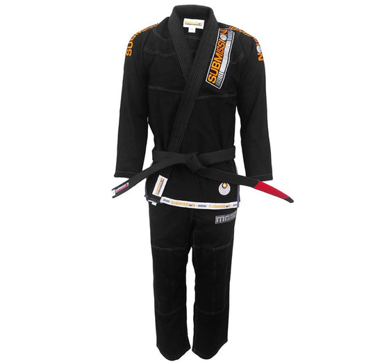 "Submission ""Mania"" Gi Color Black Front View"