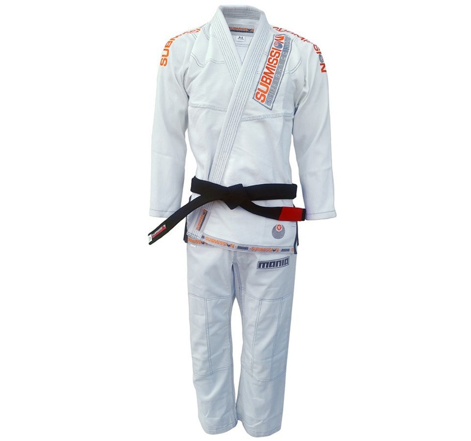 "Submission ""Mania"" Gi Color White Front View"